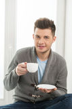 Men drinking coffee. Royalty Free Stock Images