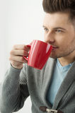 Men drinking coffee. Royalty Free Stock Photography