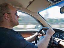 Men driving a car Stock Photo