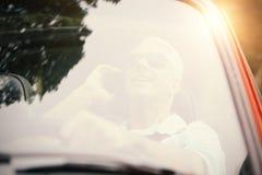 Men driving a car Stock Photos