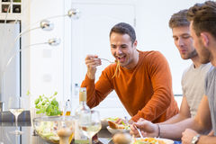 Men Eating Lunch Royalty Free Stock Images