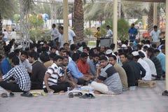 Men eating together in Ramadan Royalty Free Stock Image