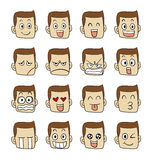Men emotions faces Stock Photos
