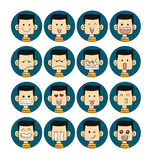 Men emotions faces Royalty Free Stock Image