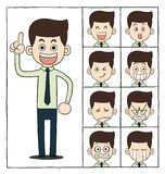 Men emotions faces Stock Photography