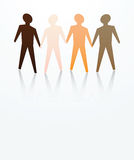 Men are equal. Concept of men are equal with different skin color Stock Photo