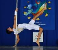 MEN EUROPE POLE DANCE CHAMPIONSHIP Stock Image
