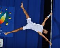 MEN EUROPE POLE DANCE CHAMPIONSHIP Royalty Free Stock Photos