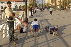 Men exercising, Beirut Royalty Free Stock Photos