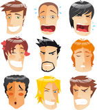 Men expression set Royalty Free Stock Image