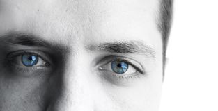 Men eyes Stock Photography