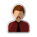 Men faceless profile Royalty Free Stock Images