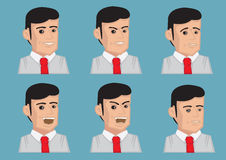 Men Facial Expressions Vector Illustration Stock Photography