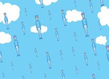 Men falling from the sky like rain Stock Photography