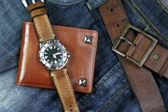 Men fashion and accessories. Stock Photos