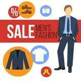 Men Fashion Clothes Sale Stock Image