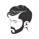 MEN FASHION HAIRSTYLE HAIRCUT WITH BEARD. ILLUSTRATION vector illustration