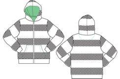 Men fashion hoodies Stock Photo
