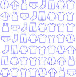 Men fashion pattern. Linear icons. Royalty Free Stock Images