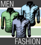 Men fashion shirts Royalty Free Stock Photos