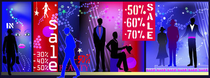 Men fashion shop sale Royalty Free Stock Images