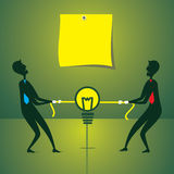Men fight for new idea concept. Both men fight for new idea concept vector Royalty Free Stock Photography
