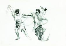 Men fighting Stock Photo
