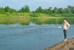 Men fishes Stock Photo
