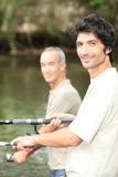 Men fishing Royalty Free Stock Image
