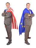Men with flags Royalty Free Stock Photography