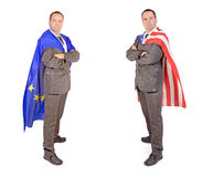 Men with flags Royalty Free Stock Images