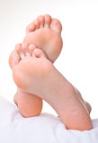 Men a foot and a heel. Royalty Free Stock Image