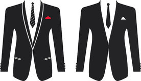 Men formal suit on a white background Royalty Free Stock Images