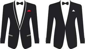 Men formal suit on a white background. Vector illustration Stock Photography