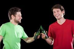 Men friends celebrating Stock Photos