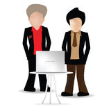 Men in front of Laptop. Men in business attire in front of Laptop Royalty Free Stock Photo