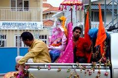 Men with Ganesh statue, Ganesh Chaturthi. Men bringing the statuse of Ganesh for celebrating. Ganesh Chaturthi Royalty Free Stock Photography