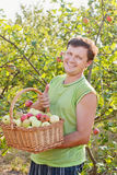 Men in garden Stock Photography