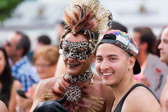 Men during  Gay pride parade in Sitges Royalty Free Stock Photos