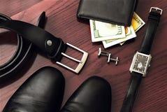 Men gentleman's set of accessories. Royalty Free Stock Image