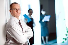 Men in glasses with tie Royalty Free Stock Image
