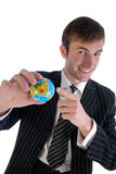 Men and global Royalty Free Stock Photos