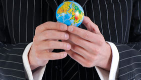 Men and global Stock Photo