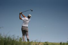Men golf swing Stock Photography