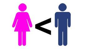 Men Greater than women. More / Greater Men Stock Image