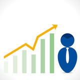Men with growth graph  Stock Photo