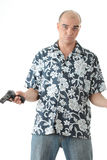 Men with gun Royalty Free Stock Photography