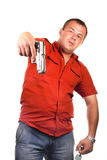 Men with gun Stock Image
