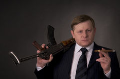 Men with gun royalty free stock image