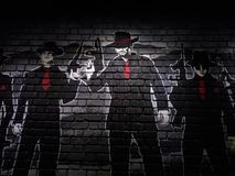 Brick wall painting Royalty Free Stock Photography